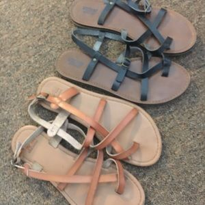 Shoes - Black and brown sandals